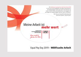 Aufkleber Equal Pay Day 2019